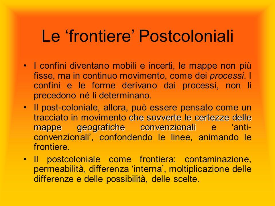 Le 'frontiere' Postcoloniali