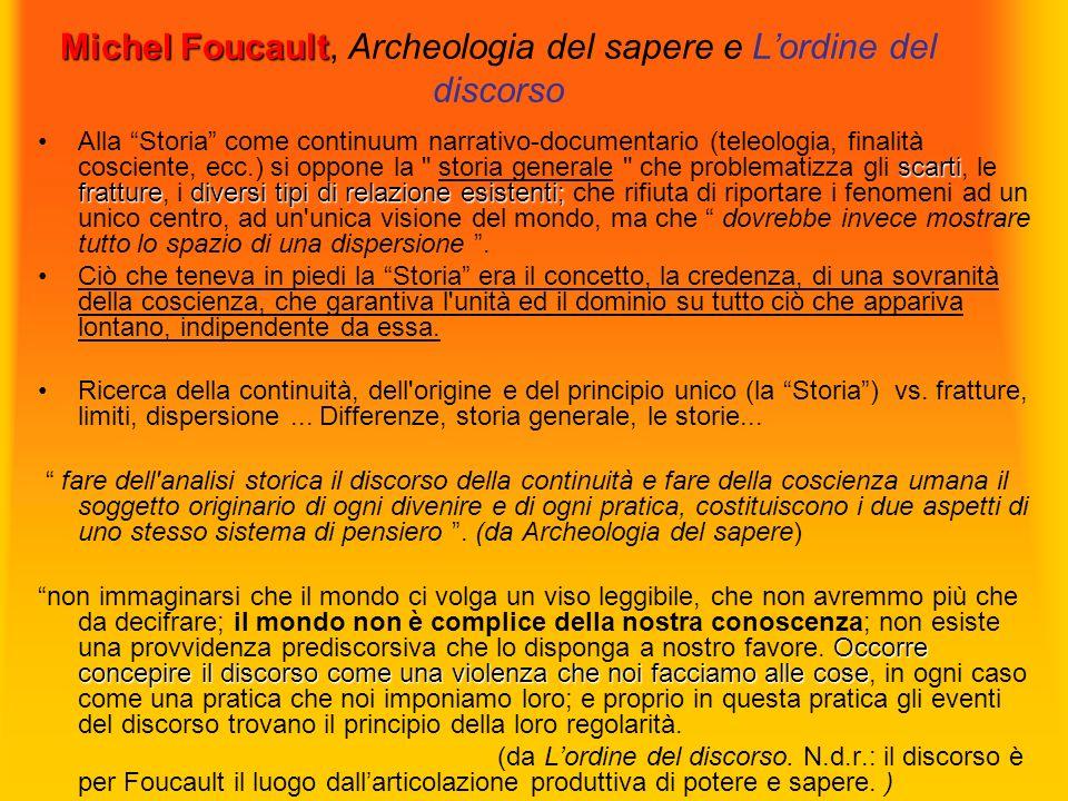 Michel Foucault, Archeologia del sapere e L'ordine del discorso