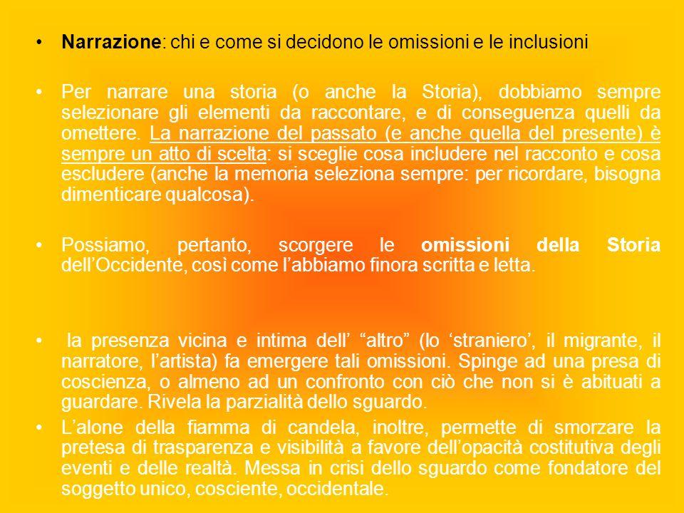 Narrazione: chi e come si decidono le omissioni e le inclusioni