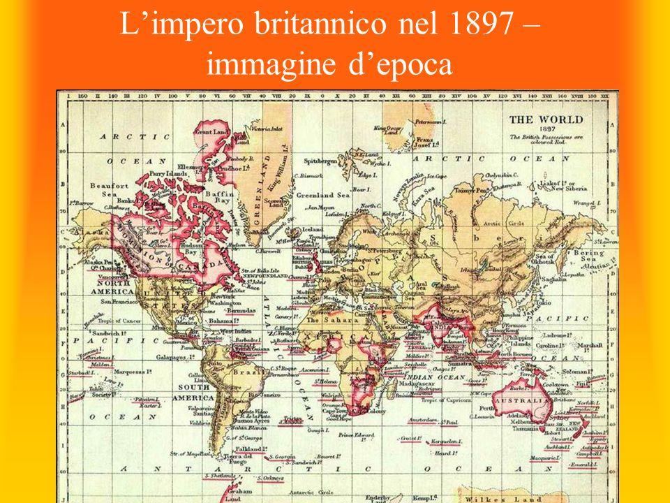 L'impero britannico nel 1897 – immagine d'epoca