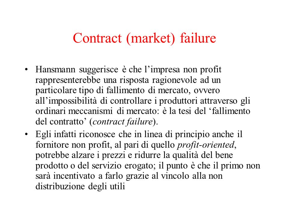 Contract (market) failure