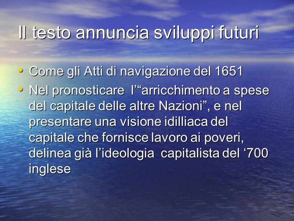 Il testo annuncia sviluppi futuri
