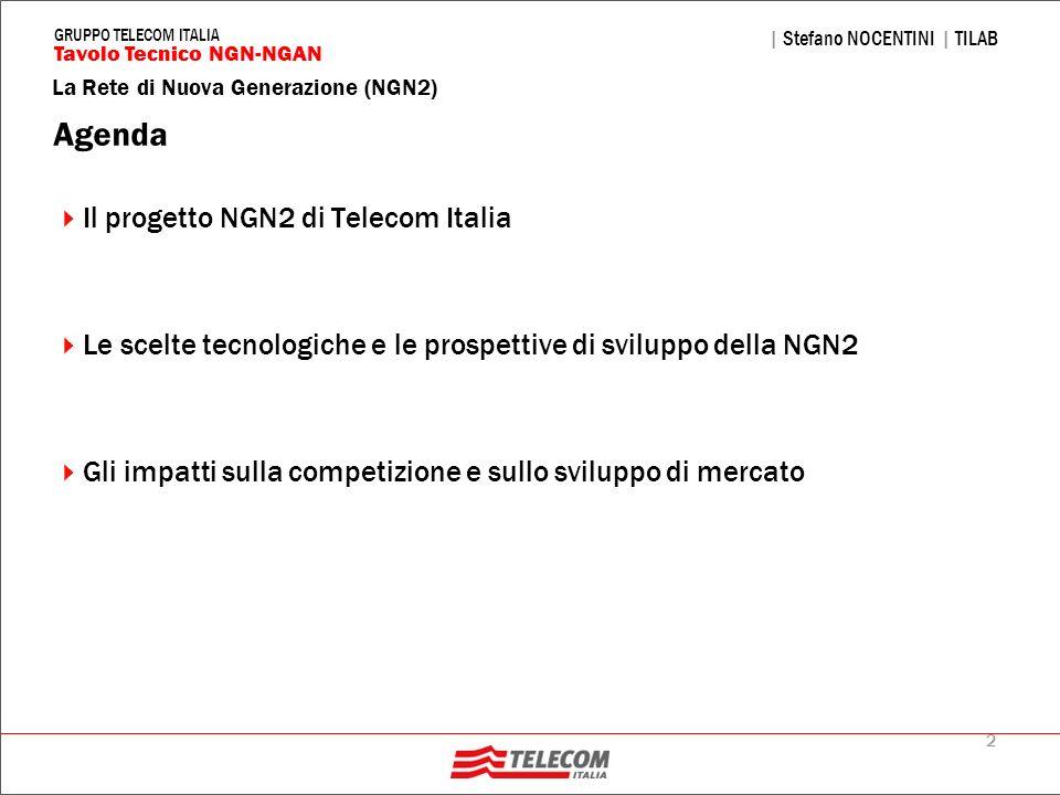 Agenda Il progetto NGN2 di Telecom Italia