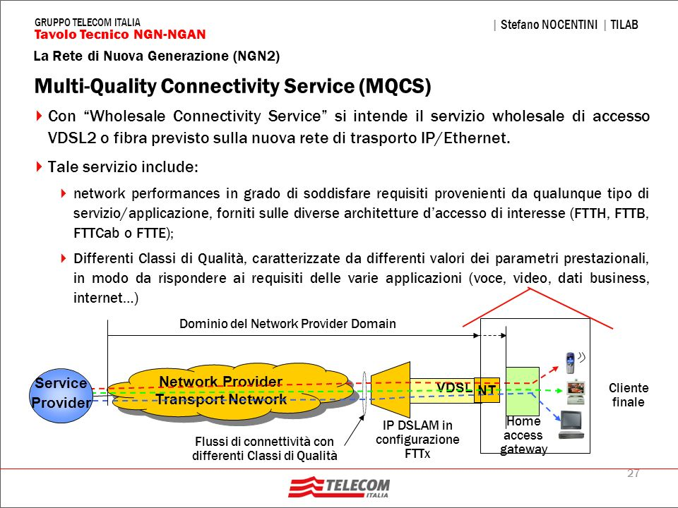 Multi-Quality Connectivity Service (MQCS)