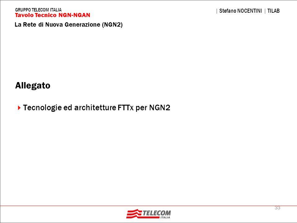 Allegato Tecnologie ed architetture FTTx per NGN2