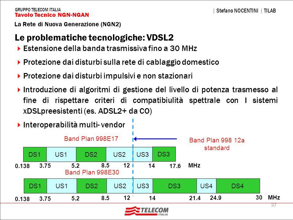 Le problematiche tecnologiche: VDSL2