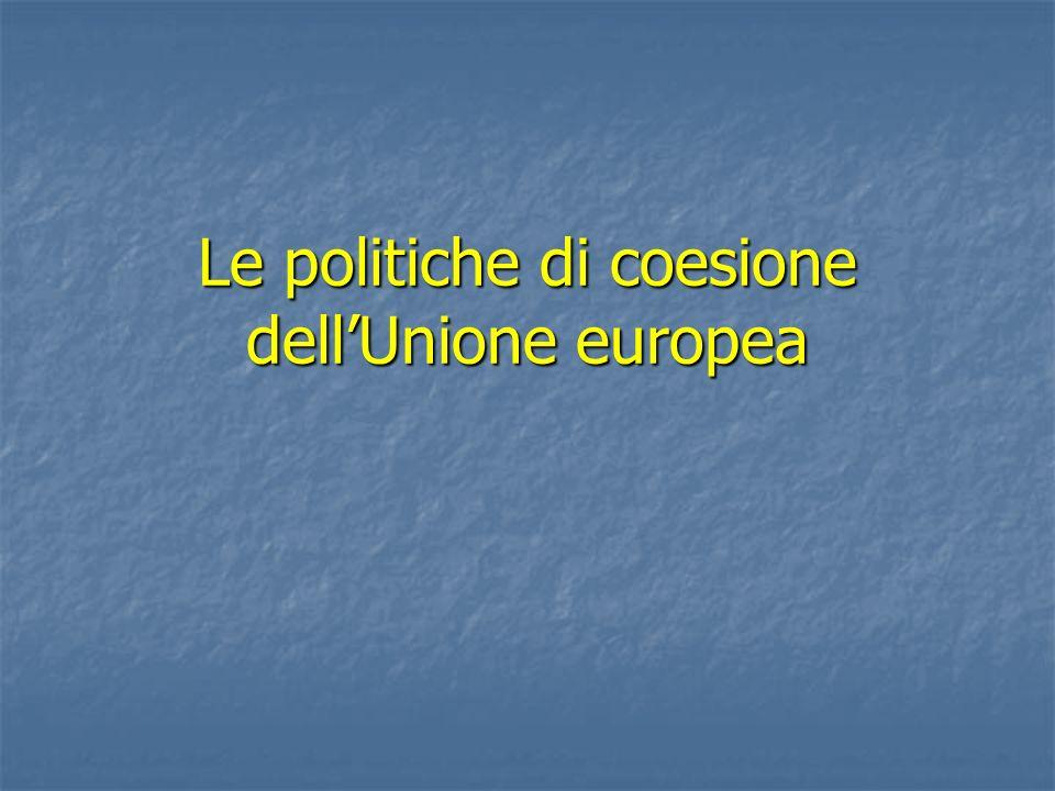 Le politiche di coesione dell'Unione europea