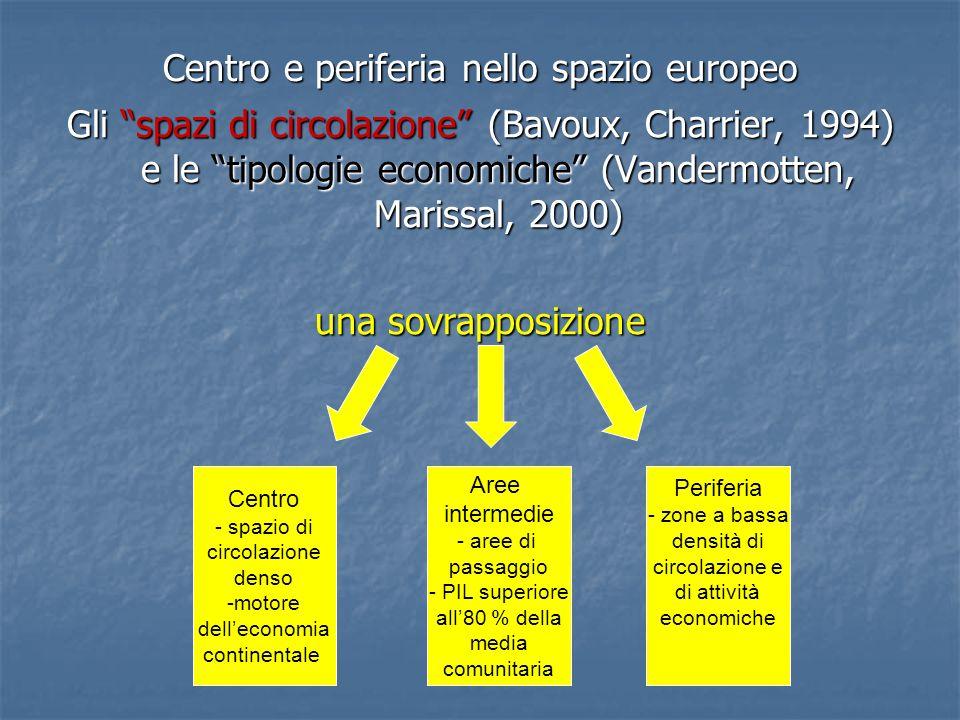 Centro e periferia nello spazio europeo