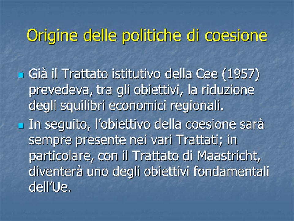 Origine delle politiche di coesione