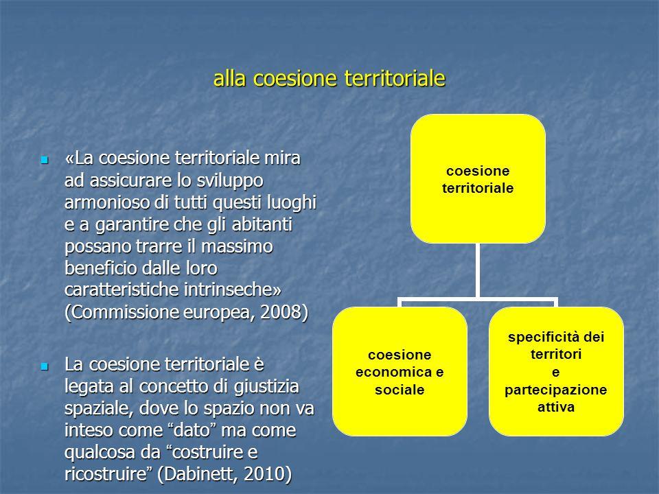 alla coesione territoriale