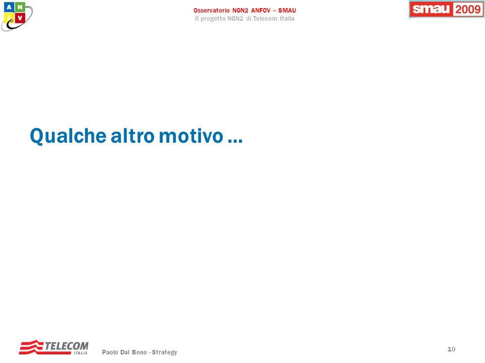 Qualche altro motivo … Paolo Dal Bono - Strategy