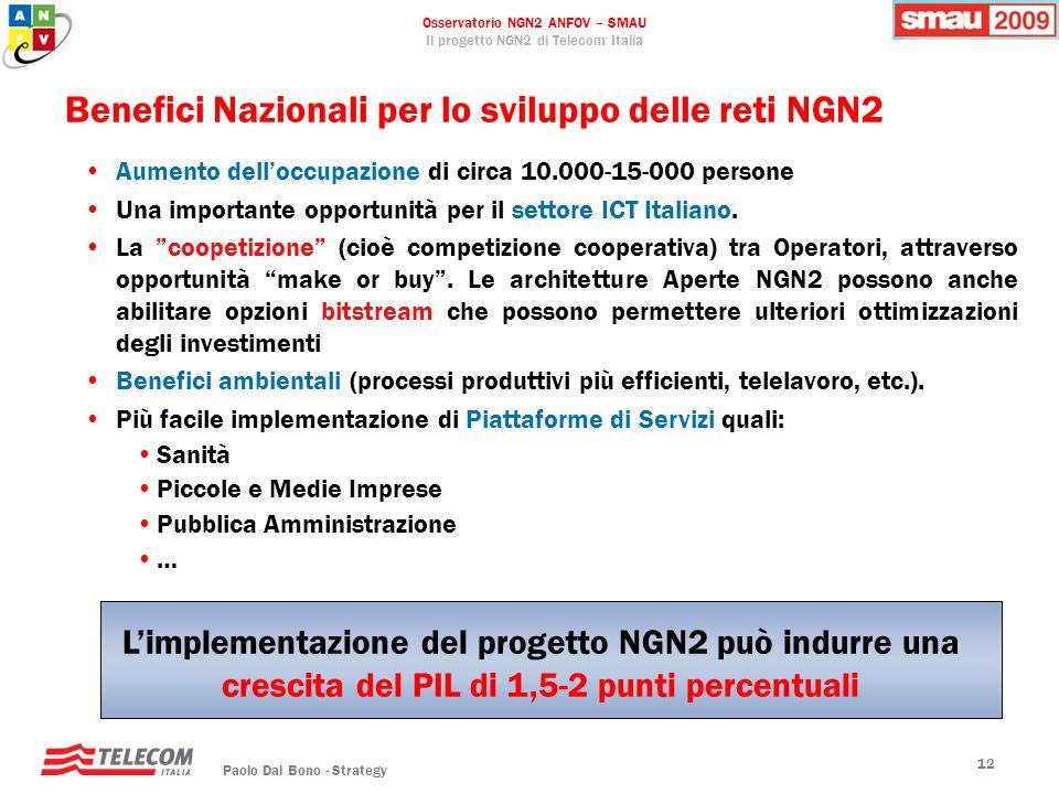 Benefici Nazionali per lo sviluppo delle reti NGN2