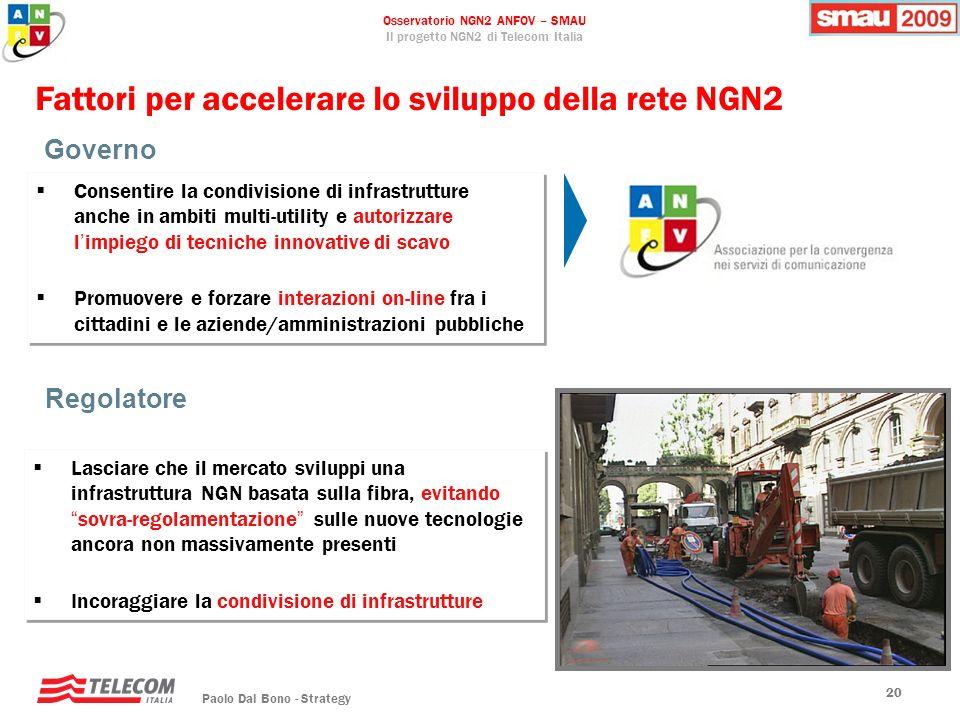 Fattori per accelerare lo sviluppo della rete NGN2