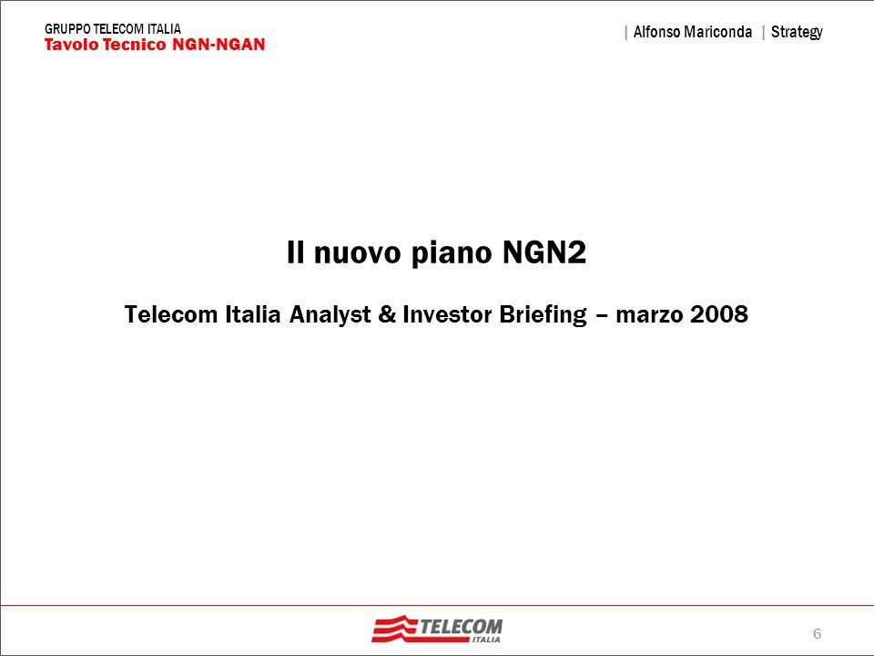 Il nuovo piano NGN2 Telecom Italia Analyst & Investor Briefing – marzo 2008