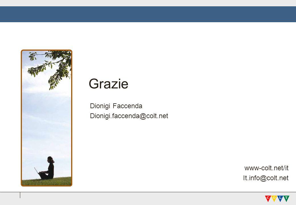 Grazie Dionigi Faccenda Dionigi.faccenda@colt.net www-colt.net/it