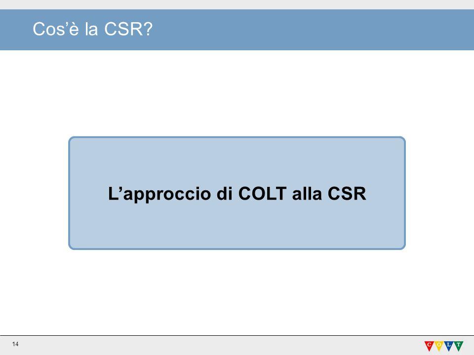 L'approccio di COLT alla CSR