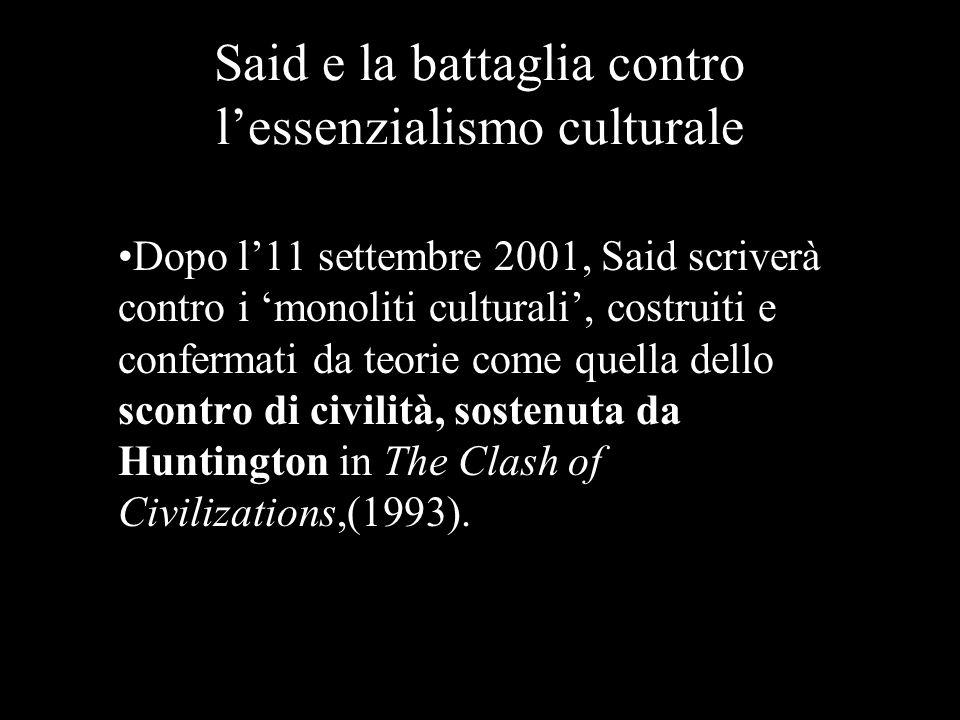 Said e la battaglia contro l'essenzialismo culturale