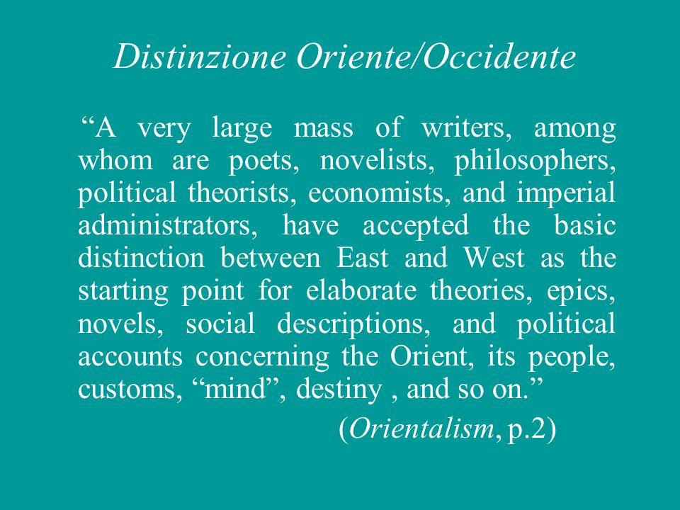 Distinzione Oriente/Occidente