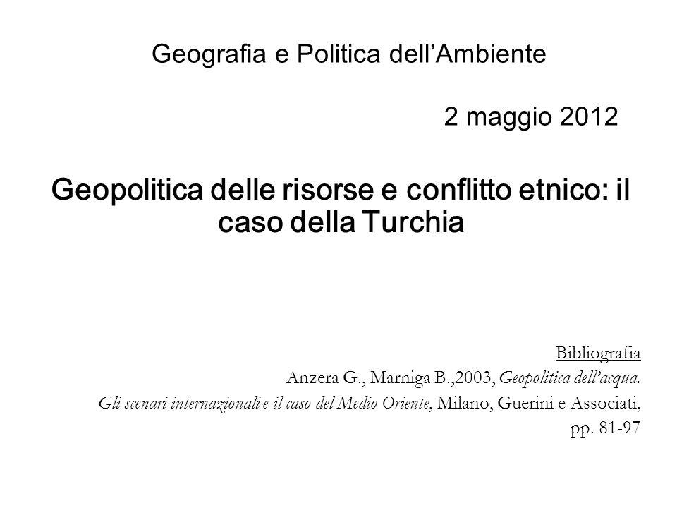 Geografia e Politica dell'Ambiente 2 maggio 2012