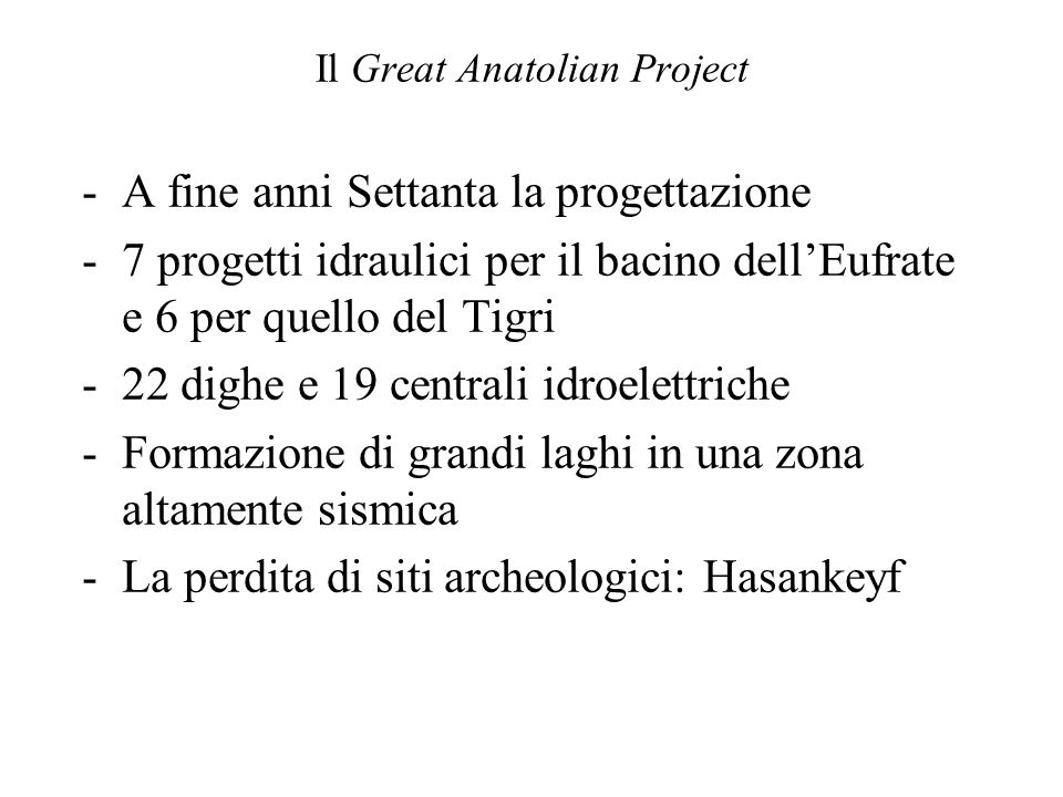 Il Great Anatolian Project