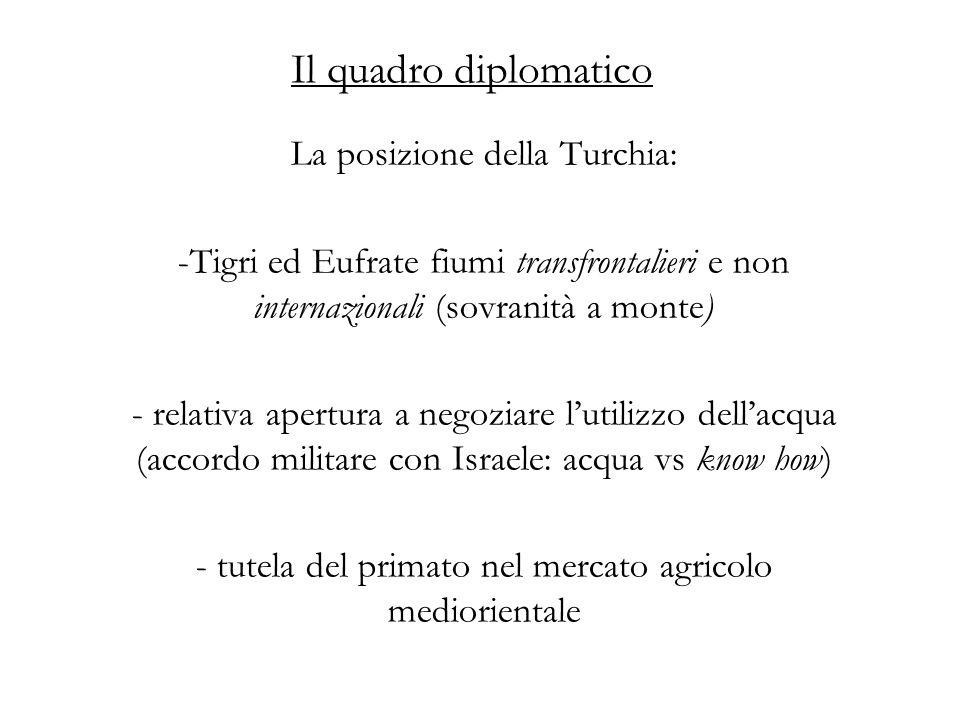 Il quadro diplomatico La posizione della Turchia: