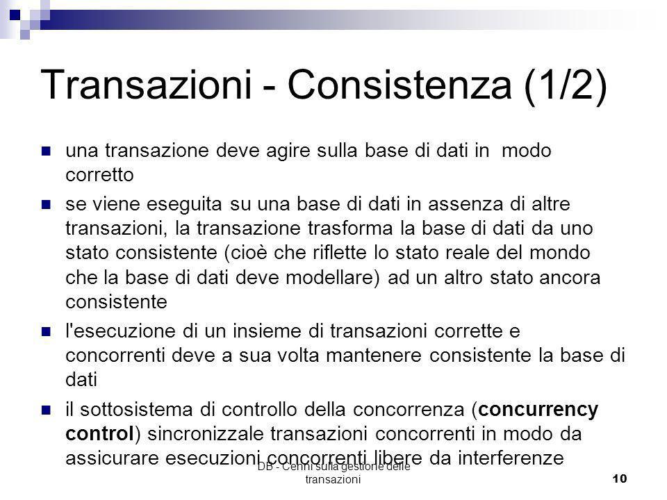 Transazioni - Consistenza (1/2)