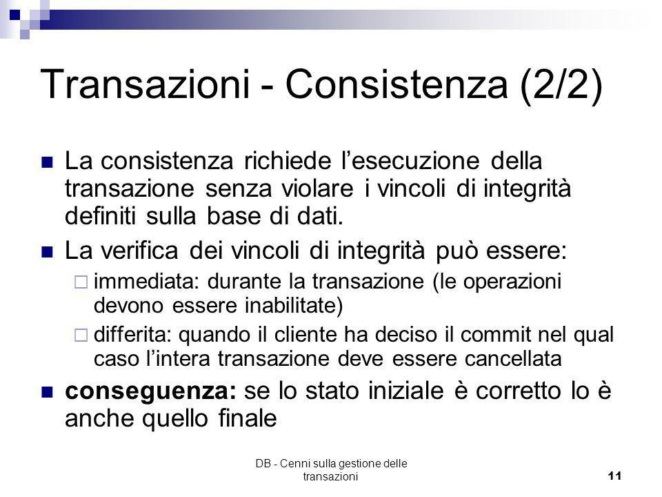Transazioni - Consistenza (2/2)