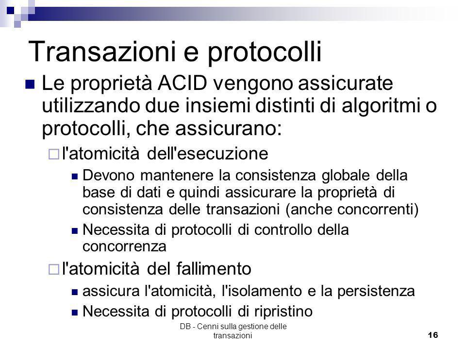 Transazioni e protocolli