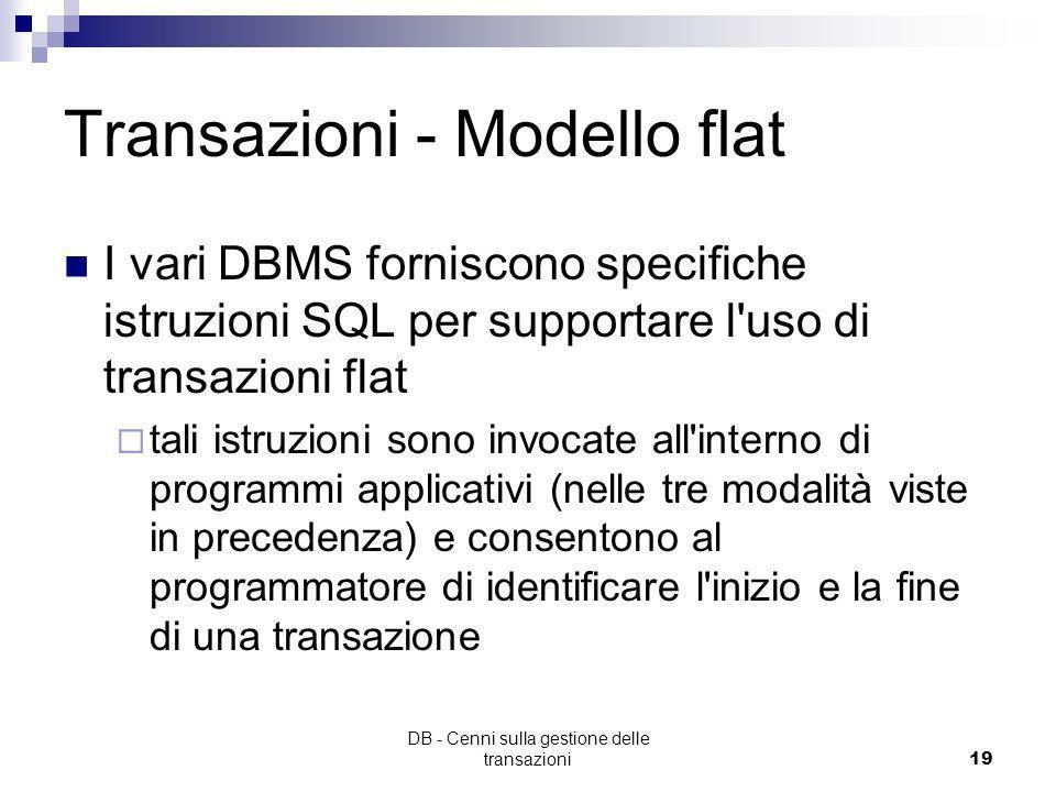 Transazioni - Modello flat