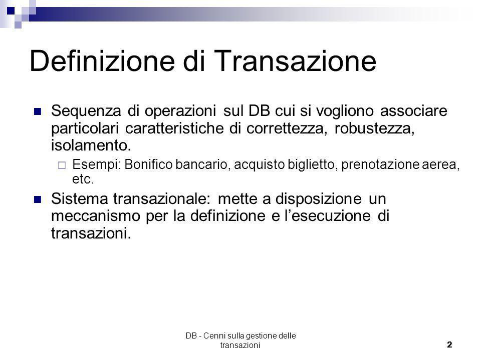 Definizione di Transazione