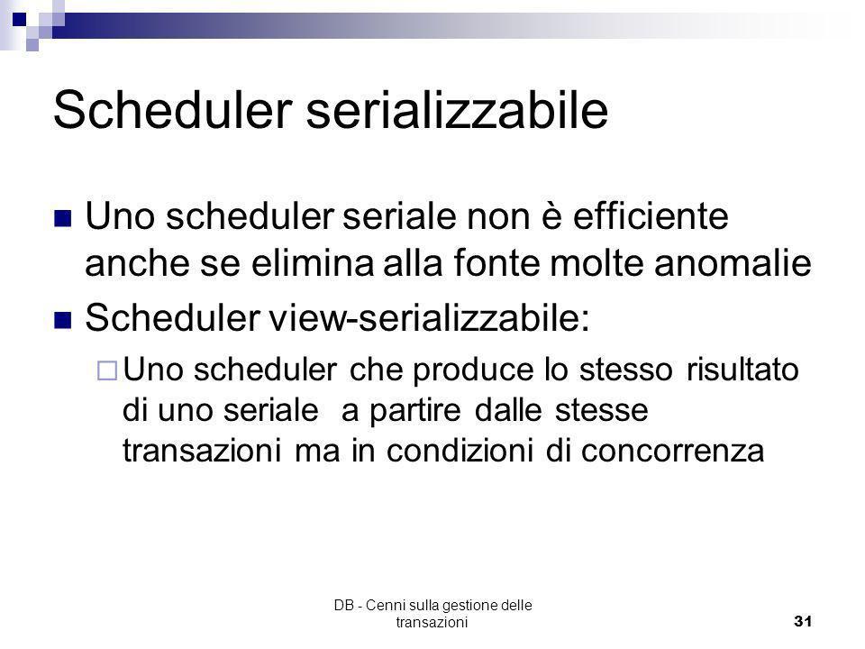 Scheduler serializzabile