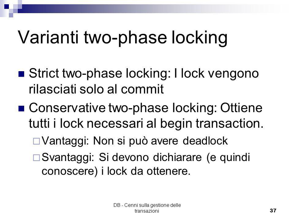 Varianti two-phase locking