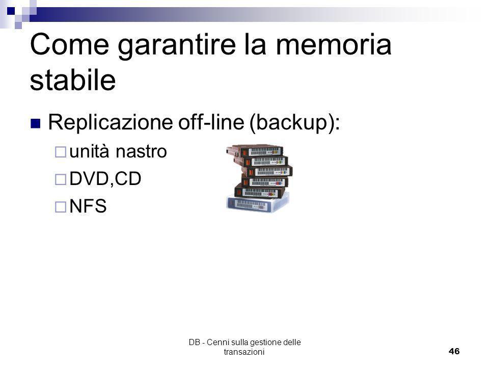 Come garantire la memoria stabile