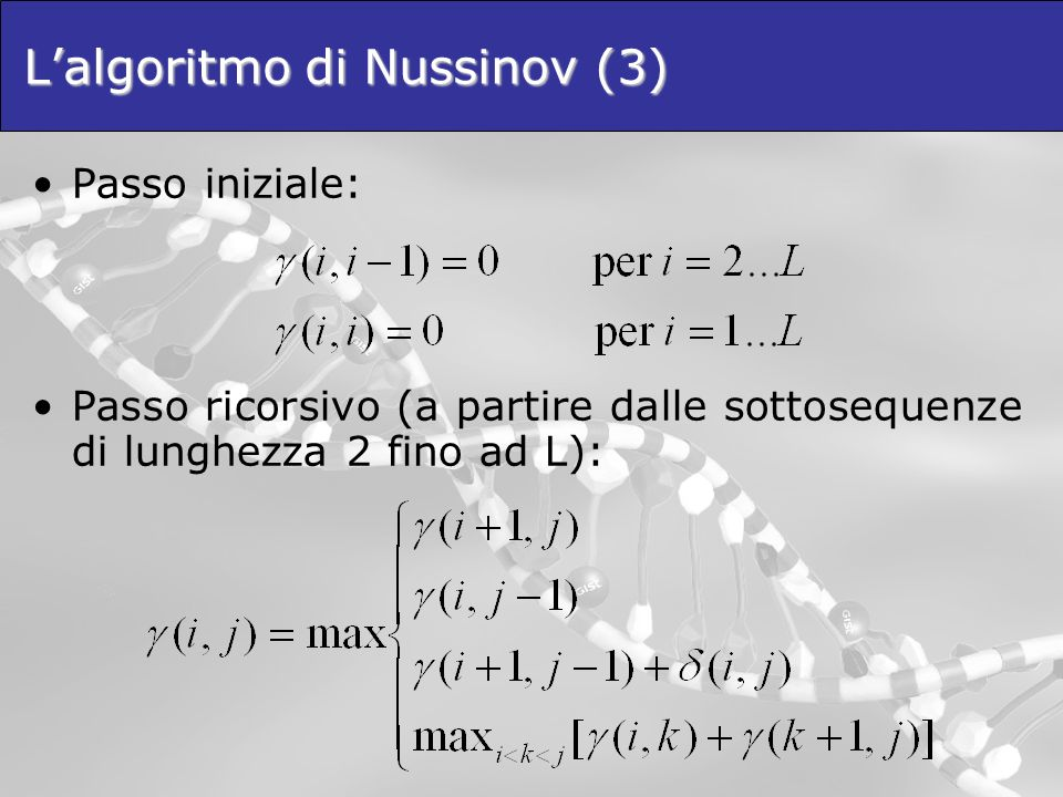 L'algoritmo di Nussinov (3)