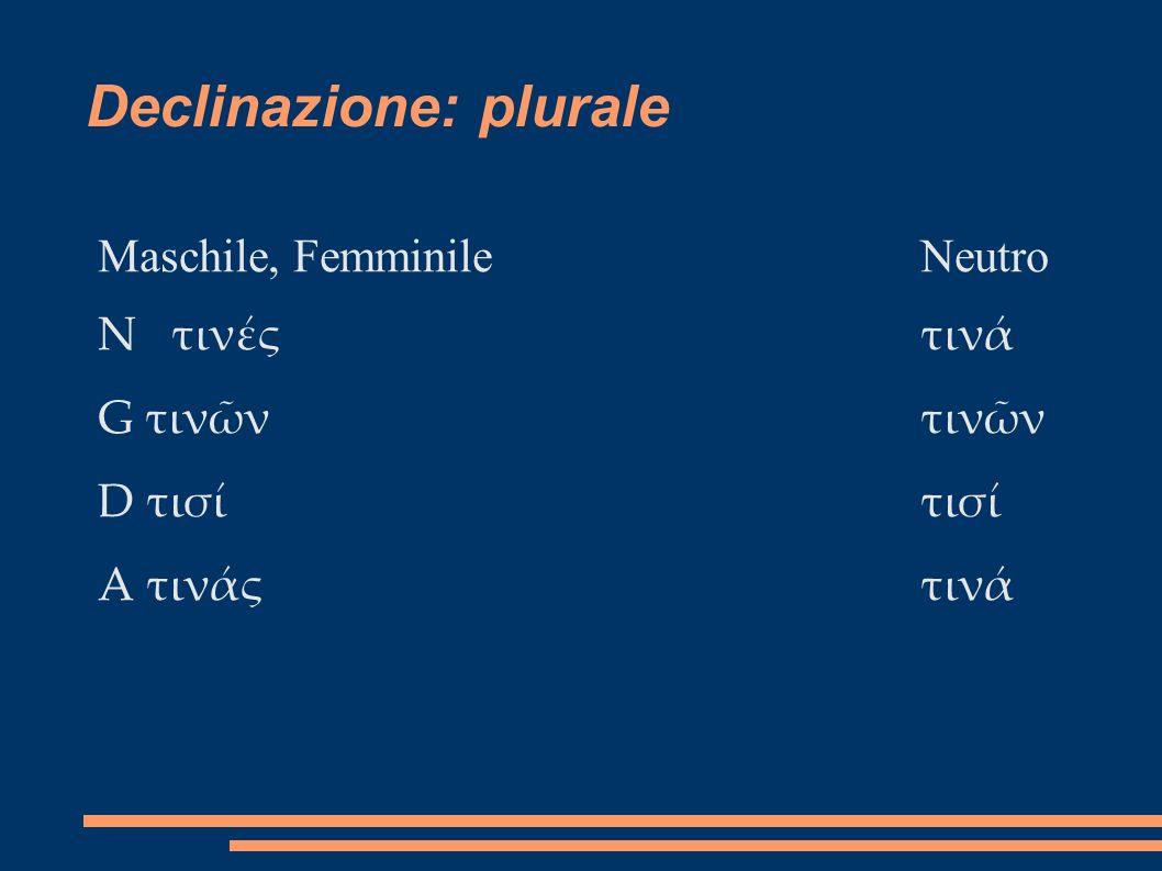 Declinazione: plurale