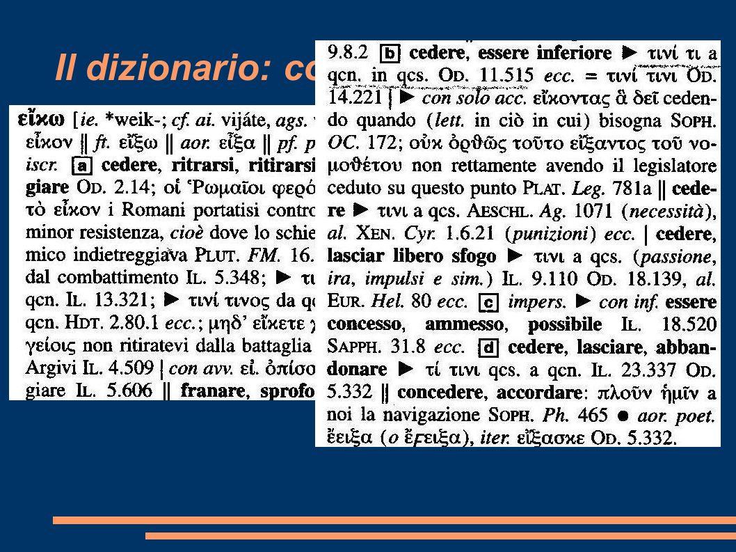 Il dizionario: come consultarlo