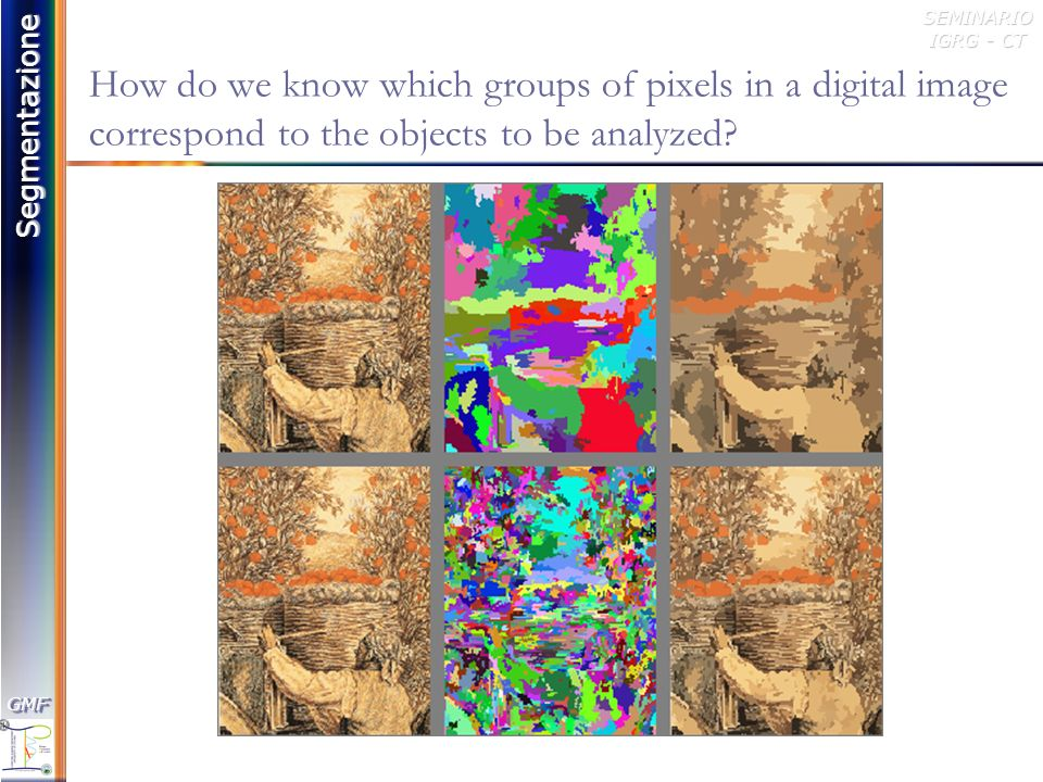 How do we know which groups of pixels in a digital image correspond to the objects to be analyzed