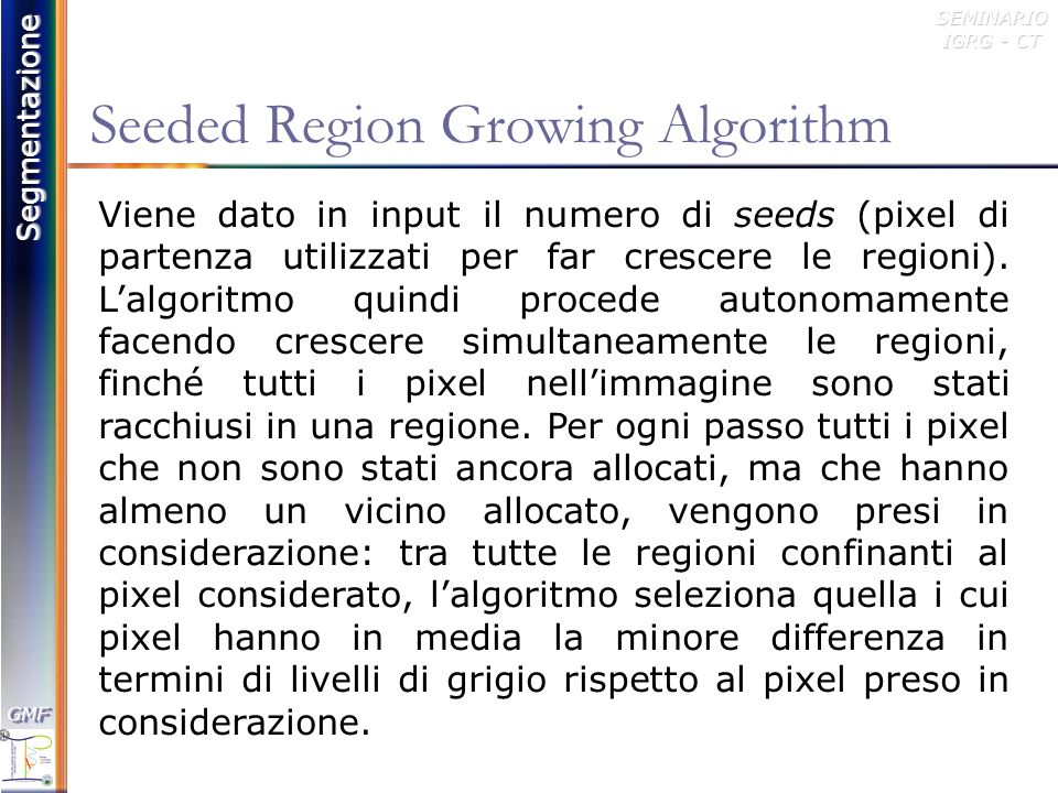 Seeded Region Growing Algorithm
