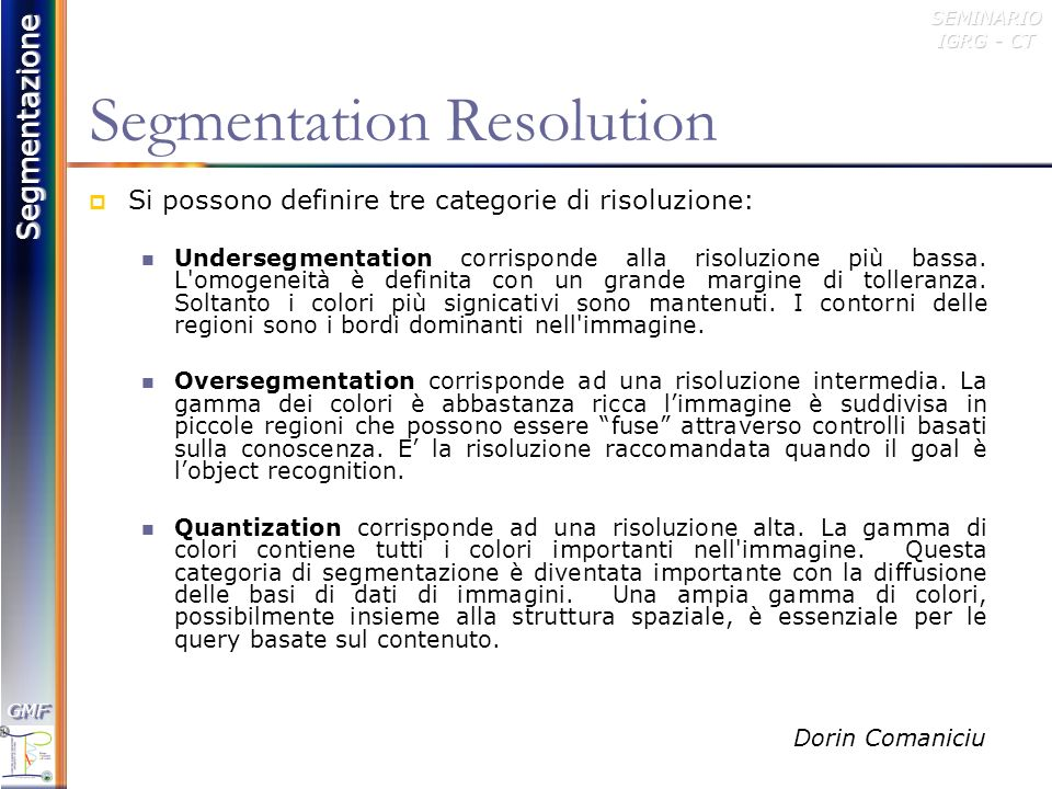 Segmentation Resolution