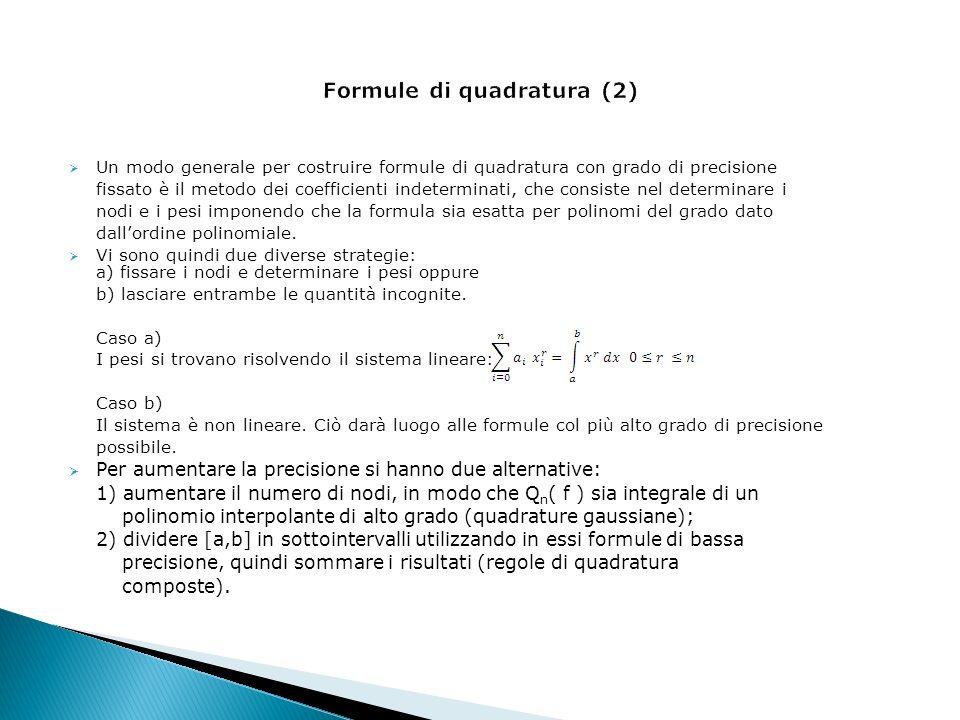 Formule di quadratura (2)