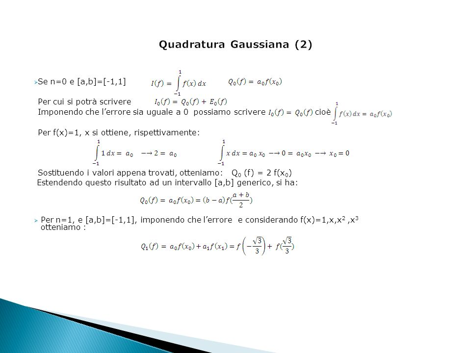 Quadratura Gaussiana (2)