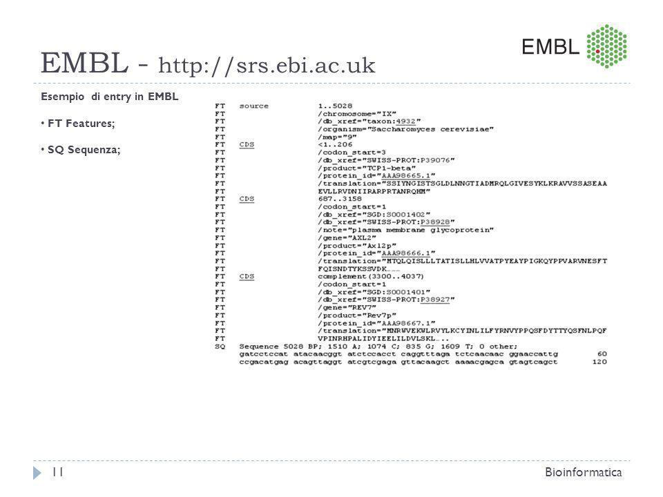 EMBL - http://srs.ebi.ac.uk