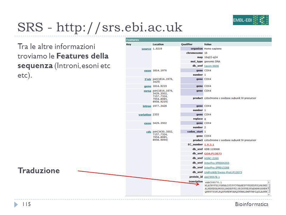 SRS - http://srs.ebi.ac.uk