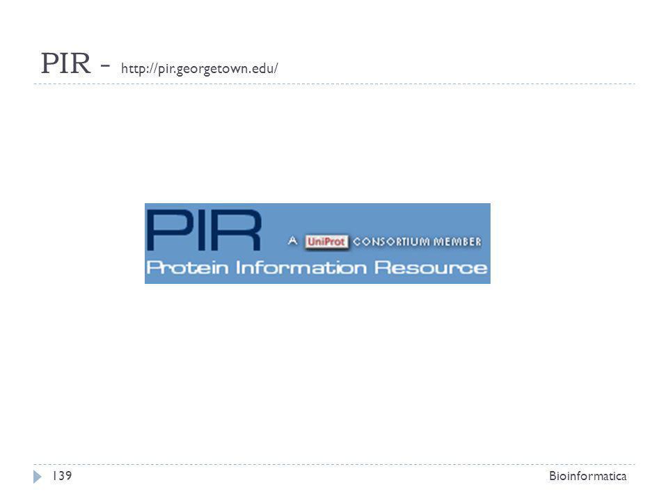 PIR - http://pir.georgetown.edu/