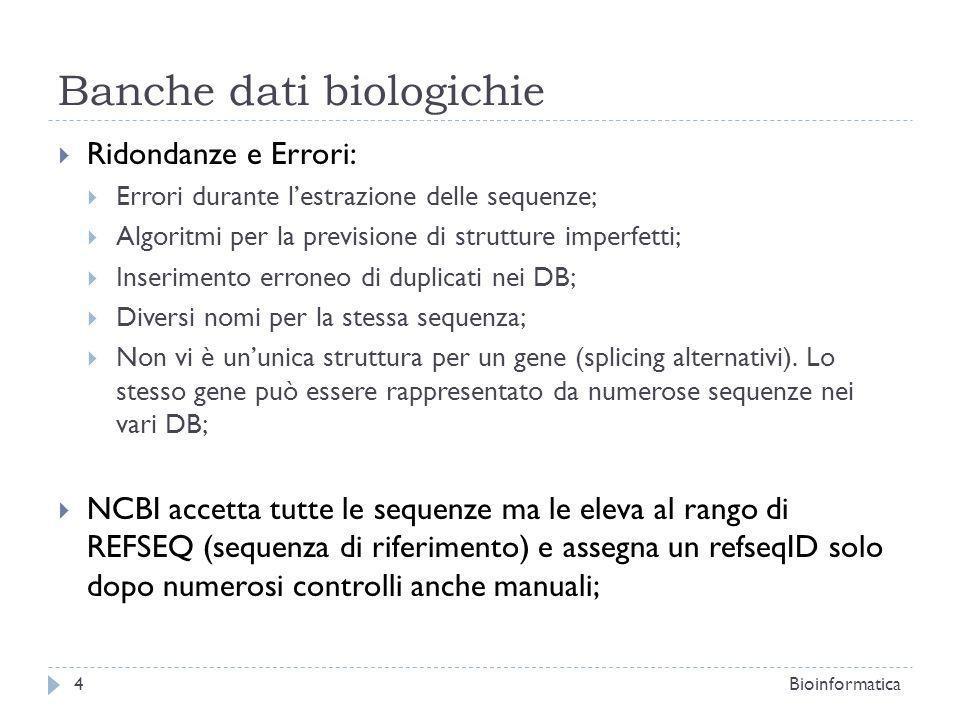 Banche dati biologichie
