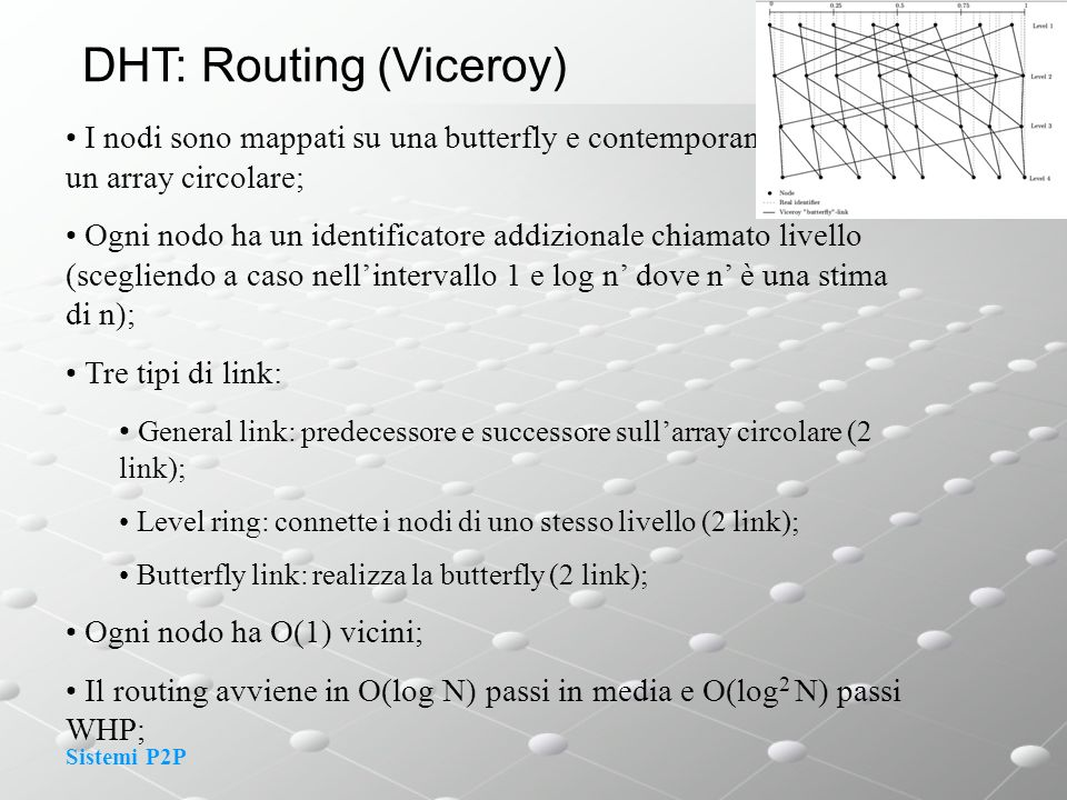 DHT: Routing (Viceroy)