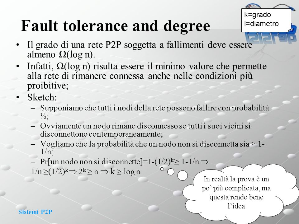 Fault tolerance and degree