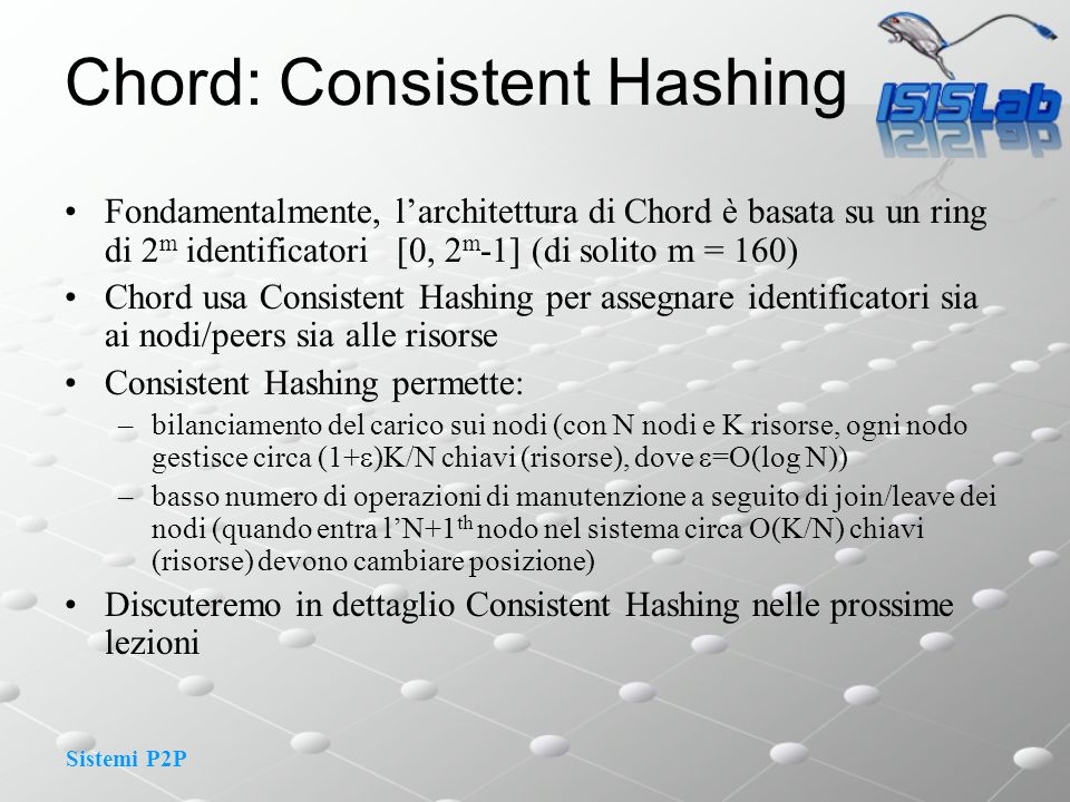 Chord: Consistent Hashing