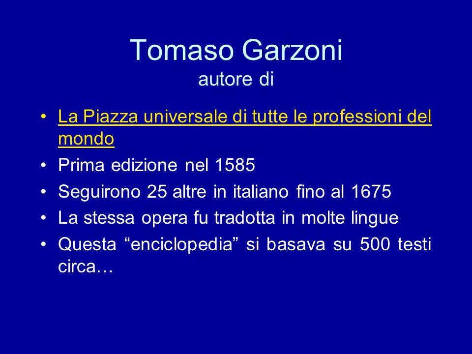 Tomaso Garzoni autore di