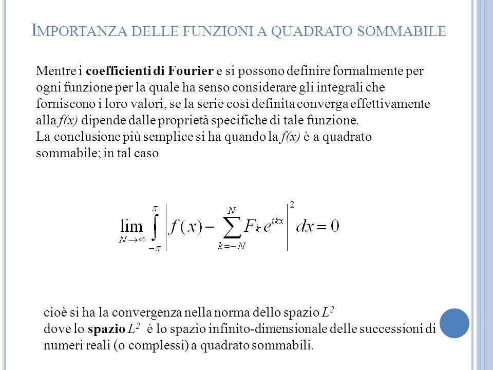 Importanza delle funzioni a quadrato sommabile
